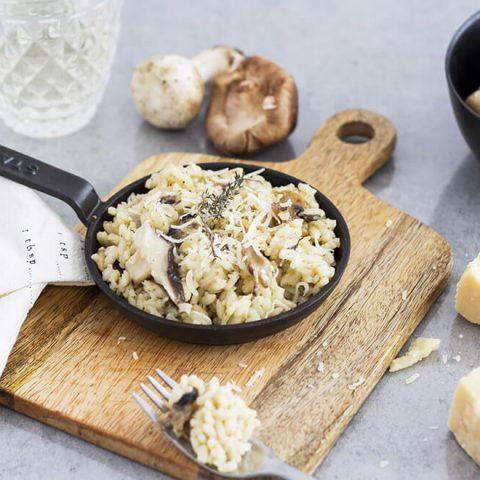 Risotto aux 2 champignons et thym
