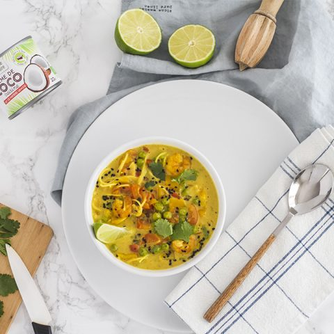Bowl de soupe thaï
