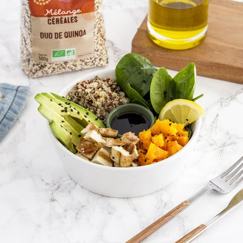 Le Buddha bowl à la patate douce, tofu et au quinoa 5
