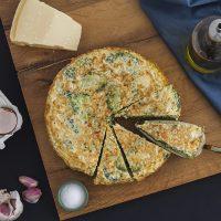 Frittata au boulgour et brocoli
