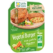 Végétal burger aux petits légumes bio
