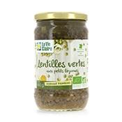 Lentilles vertes bio aux petits légumes