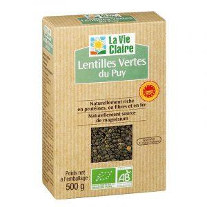 Lentilles vertes bio La Vie Claire