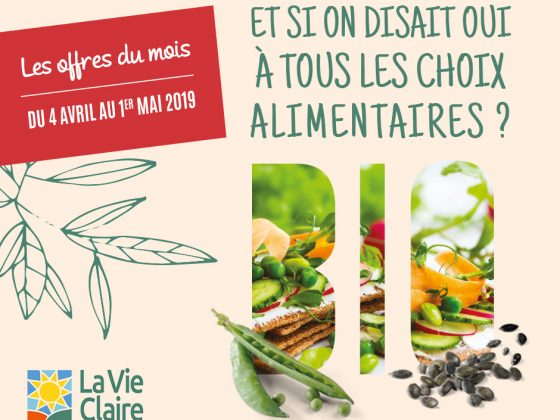 Vos promotions d'avril !