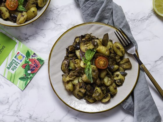 Gnocchi aux champignons et à la sauge