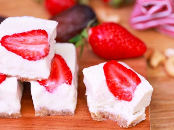 Cheesecake aux fraises vegan 1