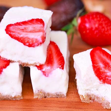 Cheesecake aux fraises vegan