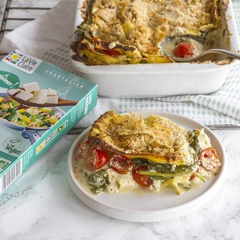 Lasagnes aux épinards et ricotta vegan au tofu