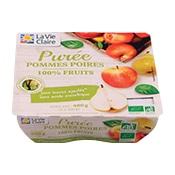 Purée pommes poires bio