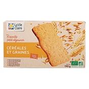 Biscuits petit-déjeuner aux céréales et graines bio