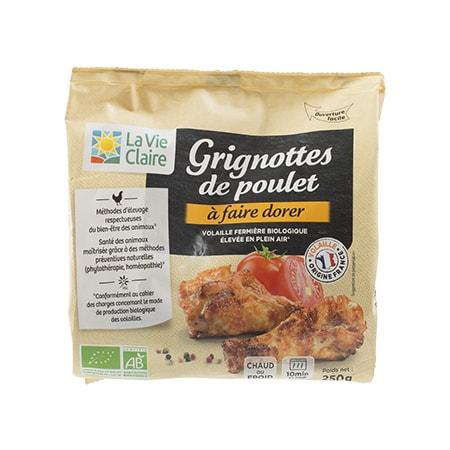 Grignottes de poulet bio