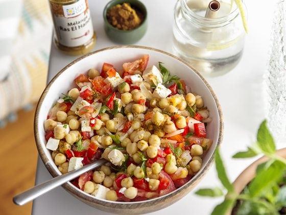 Salade de pois chiches au Ras-El-Hanout