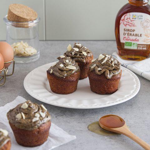 Cupcakes à la farine de chataîgne et au café