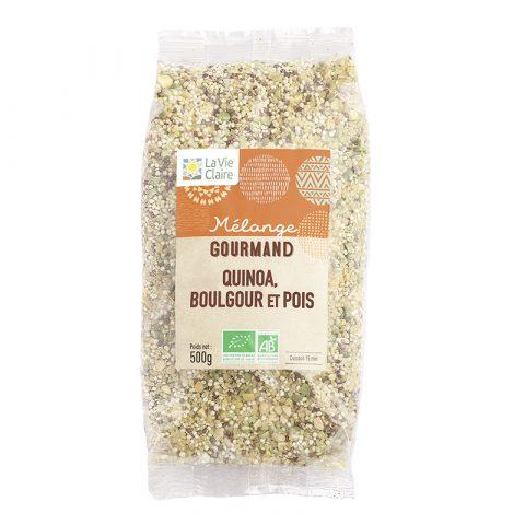 Mélange quinoa boulgour et pois bio