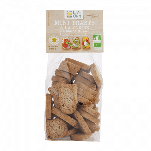 Mini toast à la farine de blé complet bio