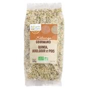 Mélange quinoa, boulgour et pois bio