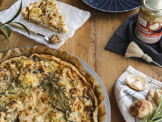 Tarte au chou-fleur, mascarpone et moutarde à l'ancienne