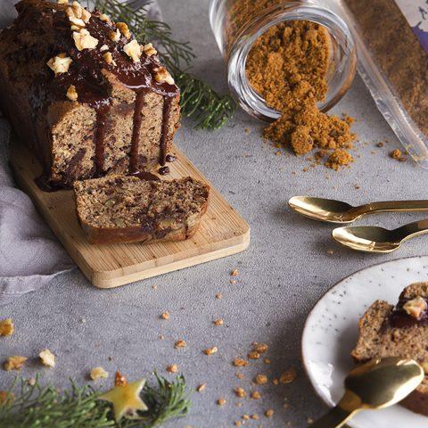 Gâteau aux marrons, noix de pécan et chocolat