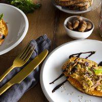 Toasts de patate douce et son houmous aux brisures de marrons 1