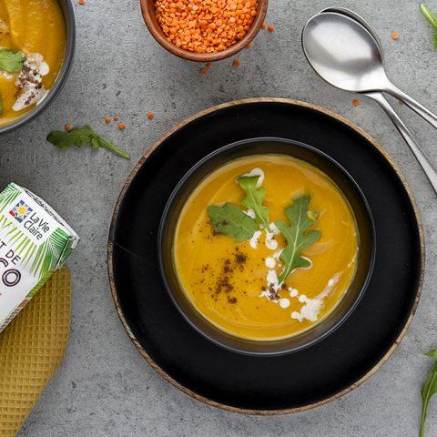 Soupe de patate douce et lentilles 1