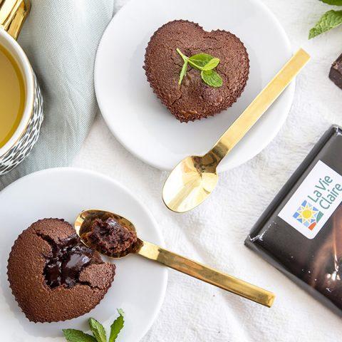Cœurs fondants au chocolat