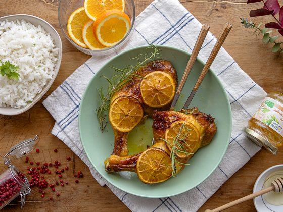 Cuisses de poulet à l'orange