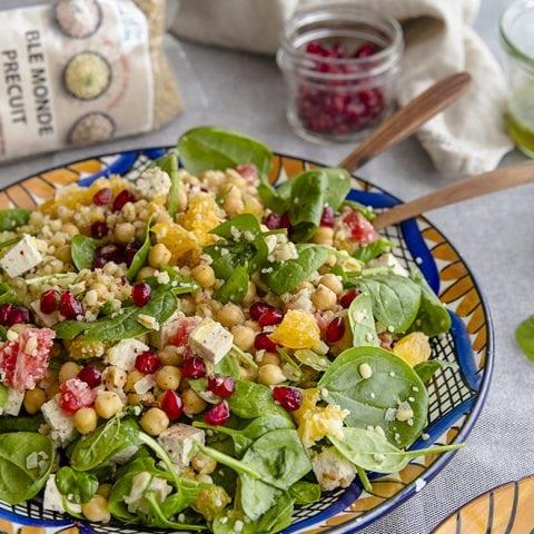 Salade de blé vitaminées aux agrumes