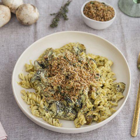 Fusilli sans gluten sauce champignons 1