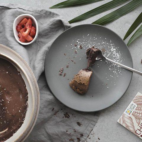 Génoise chocolat-café et mousse au chocolat