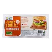 4 pains complets pour hamburger bio