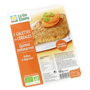 galette quinoa potimarron