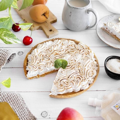 tarte meringuee abricots