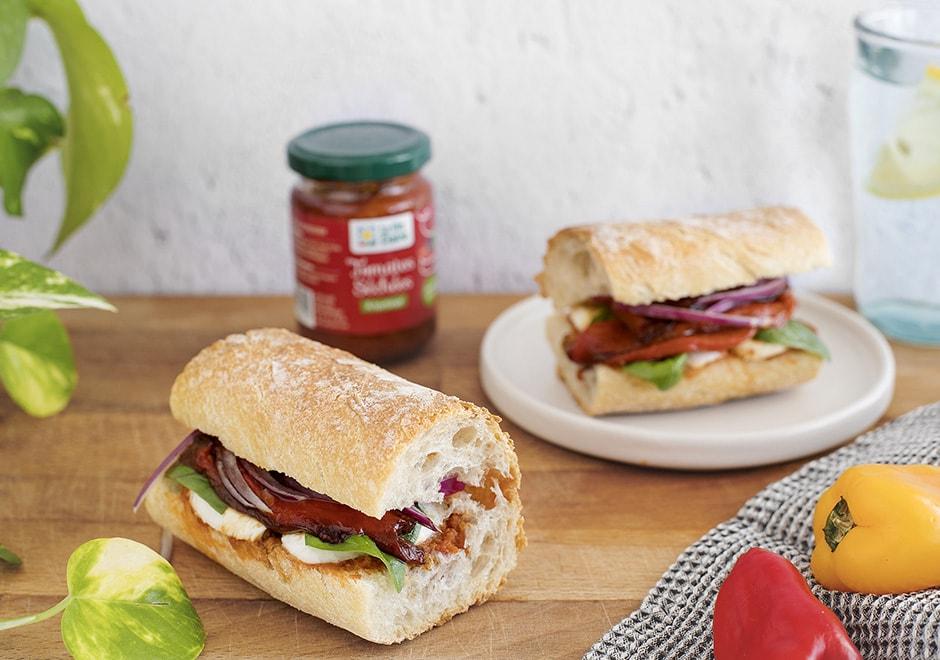 sandwich aux poivrons