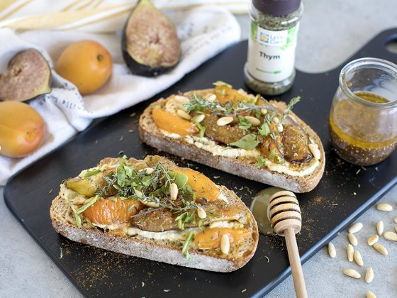 tartines figues abricots