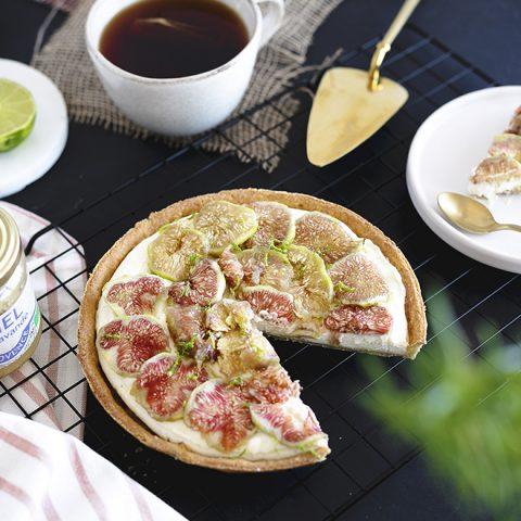 Tarte cheesecake aux figues et mascarpone au citron