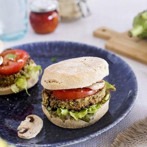 burger aubergine