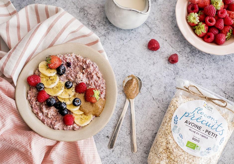porridge fraise