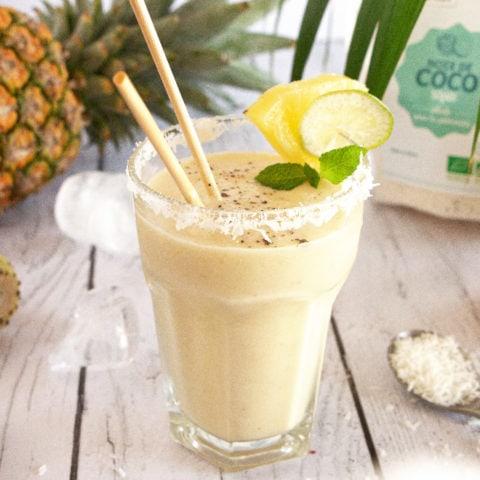 smootie ananas noix de coco