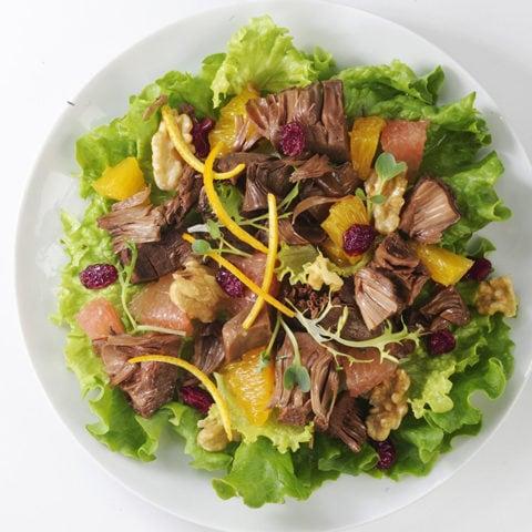 Salade composée fruit du Jacquier et agrumes