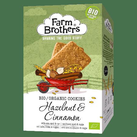 Biscuits aux noisettes et à la cannelle bio