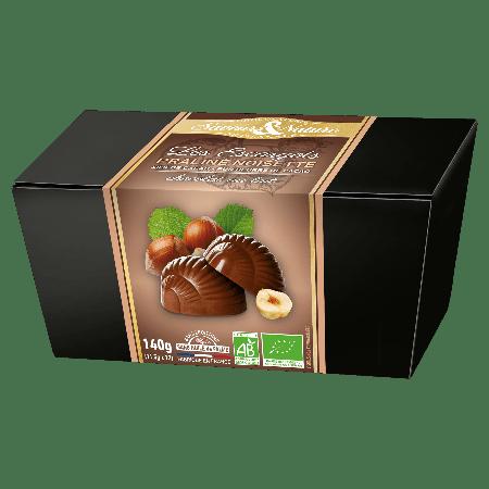 Escargots pralinés enrobés de chocolat au lait bio