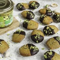 Madeleines à la pistache, thé matcha, citron vert et chocolat