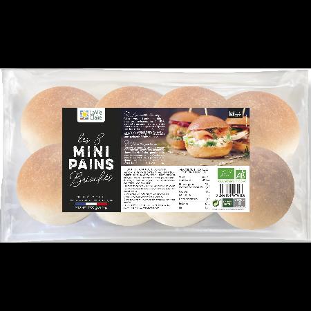 Mini pains à burger briochés bio