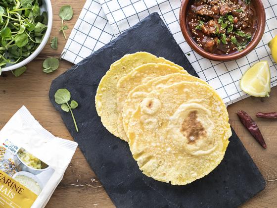 Tortillas mexicaines à la farine de maïs