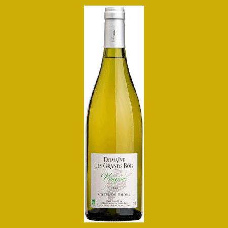 Vin blanc Viognier Côtes du Rhône bio