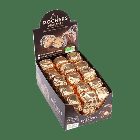 Rocher praliné au chocolat au lait bio