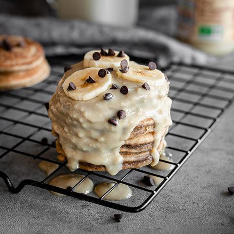 Pancakes au beurre de cacahuète et aux bananes