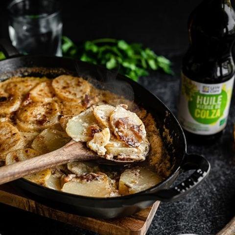 Pommes de terre aux lardons et au Cantal