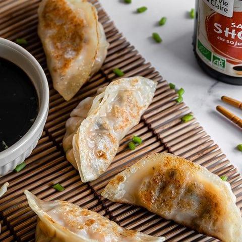 Gyozas aux légumes, sauce shoyu 1
