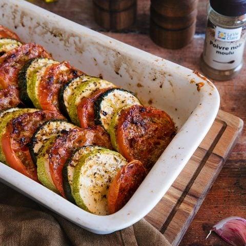 Gratin de tomates et de courgettes